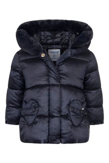 Baby Girls Navy Padded Jacket