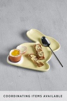 Teller im Hasen-Design, mit Eierständer
