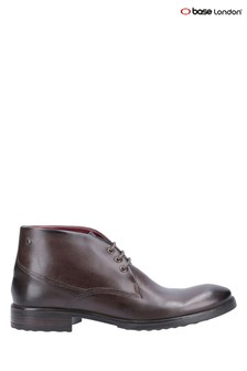 Base London® Brown Bramley Burnished Lace-Up Ankle Boots