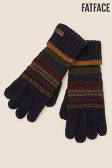 FatFace Blue Pattern Gloves