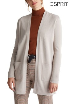 Esprit Womens Nude Long Sleeved Cardigan