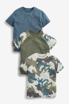 3 Pack Short Sleeve Jersey T-Shirts (3-16yrs)