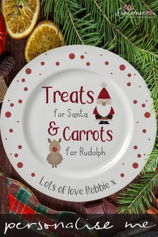 Personalised Christmas Characters Treats Plate Serveware by Signature PG
