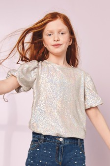 Party Sequin Top (3-16yrs)