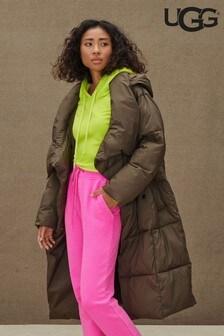 UGG® Khaki Catherina Long Line Padded Coat