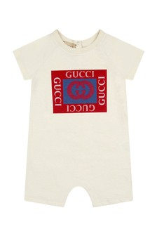 GUCCI Kids Baby Boys White Cotton Shortie