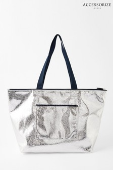 Accessorize Metallic Piper Packable Metallic Gym Bag