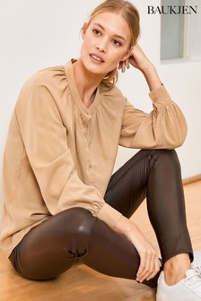 Baukjen Brown Leather Liv Leather Leggings