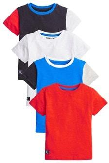 4 Pack Colourblock T-Shirts (3mths-7yrs)