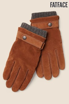 FatFace Brown Suede Gloves