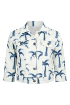 Stella McCartney Kids Girls Blue Cotton Jacket
