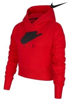 Nike Air Red Cropped Hoodie