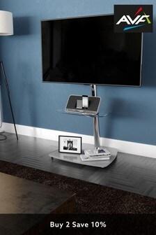 AVF Iseo Corner Pedestal TV Stand 600 Chrome / Clear Glass