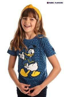 Fabric Flavours Blue Donald Duck D&D T-Shirt