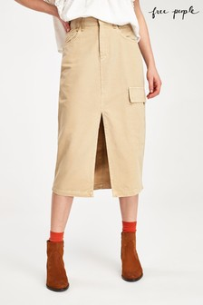 Free People Sand Scout Utility Midi Skirt