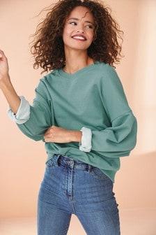 Metallic Stripe Sweatshirt