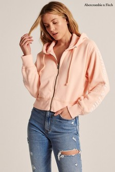 Abercrombie & Fitch Peach Logo Hoody
