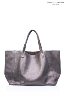Kurt Geiger London Violet Horizontal Gunmetal Tote