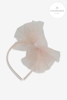 Charabia Pink Mesh Bow Headband