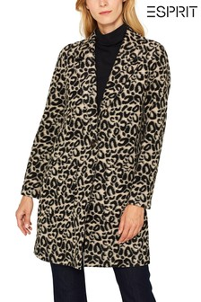 Esprit Natural Coat In Leopard Optic