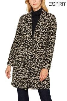 Esprit Natural Coat In Leopard Optic