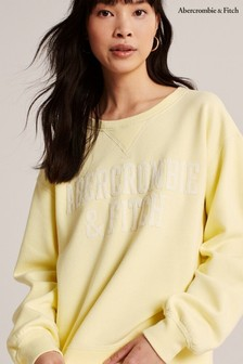 Abercrombie & Fitch Yellow Relaxed Crew Sweat Top
