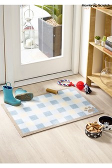 Howler & Scratch Check Washable And Recycled Non Slip Doormat