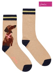 Joules Brown Brill Bamboo Single Socks