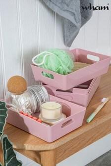 Set of 4 Wham Studio Medium Rectangle Slim Plastic Storage Baskets