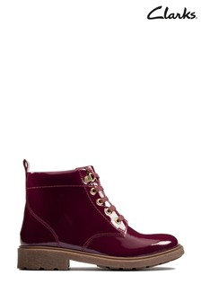 Clarks Berry Patent Astrol Lace K Boots