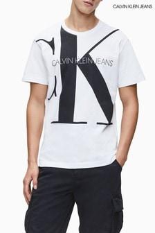 Calvin Klein Jeans White Upscale Monogram Logo T-Shirt
