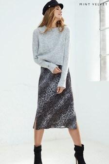 Mint Velvet Animal Print Knit Slip Dress