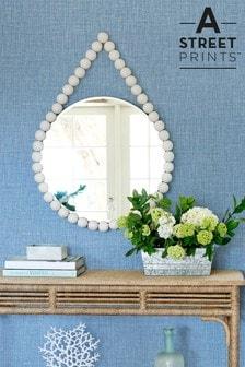 A Street Blue Jocelyn Textured Wallpaper