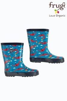 Frugi Wellington Boots In Dragon Print