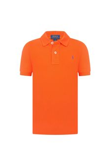 Ralph Lauren Kids Boys Orange Pique Polo Shirt