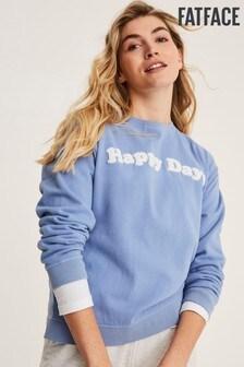 FatFace Blue Jennifer Happy Days Crew Sweat Top