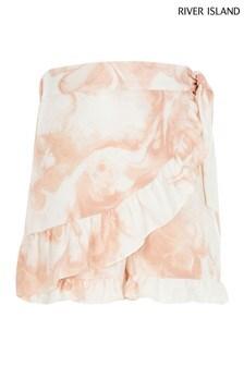 River Island Pink Light New Wrap Skirt