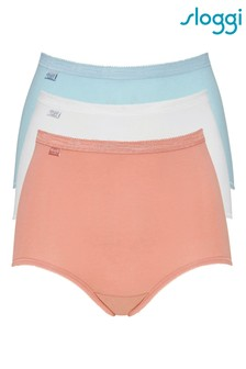 Sloggi Blue Basic Maxi Briefs Three Pack