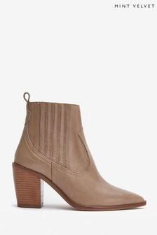 Mint Velvet Erika Brown Cowboy Boots