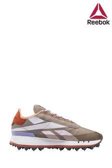 Reebok Stone/Purple Legacy 83 Trainers