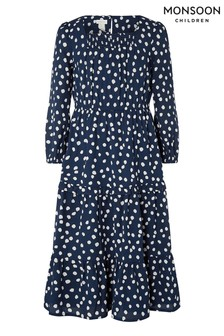 Monsoon Blue S.E.W Serenity Splodge Dress