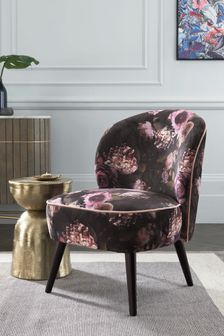 Zola Accent Chair With Black Legs