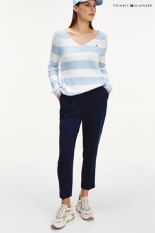 Tommy Hilfiger Blue Essential Twill Tailored Trousers