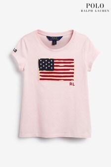 Ralph Lauren Pink Graphic T-Shirt