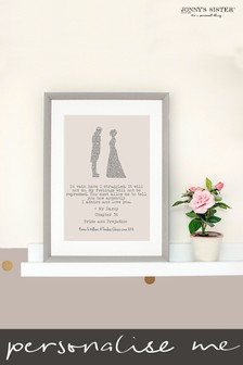 Personalised Pride and Prejudice Framed Print by Jonnys Sister