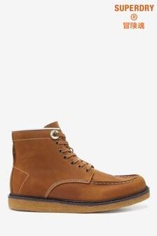 Superdry Tan Detroit Boots