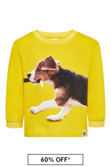Baby Boys Yellow Cotton Sweat Top
