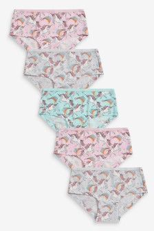 5 Pack Unicorn Hipster Briefs (2-16yrs)