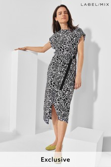 Next/Mix Printed Jersey Dress