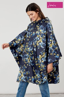 Joules Blue Poncho Floral Cover Up